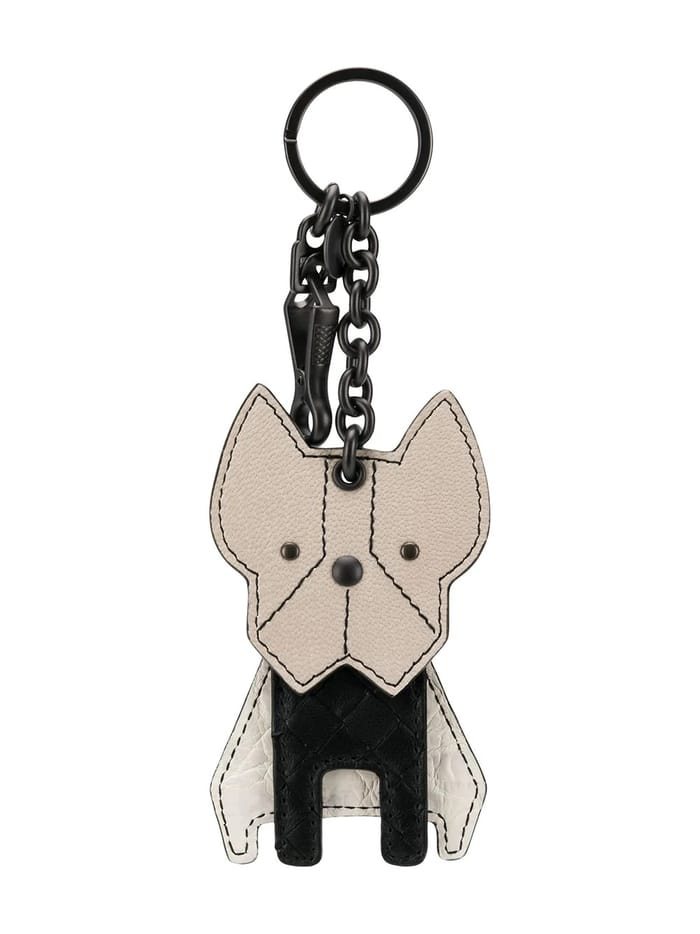 Best Luxury Keychains and Keyrings and Keyrings - BOTTEGA VENETA Intrecciato bulldog keyring