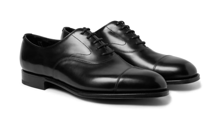 Best Luxury Oxford Shoes - Edward Green Chelsea Cap-Toe Burnished-Leather Oxford Shoes