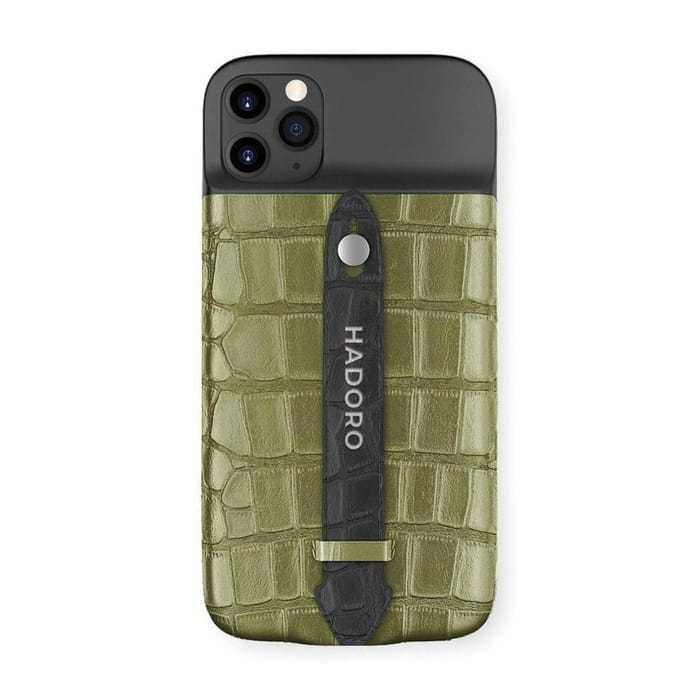 Best Luxury iPhone Cases - HADORO Alligator Battery Finger Case