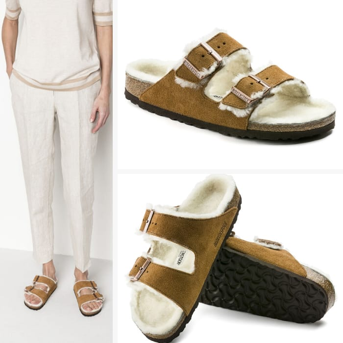 Birkenstock Slippers for Women - Arizona Suede Leather