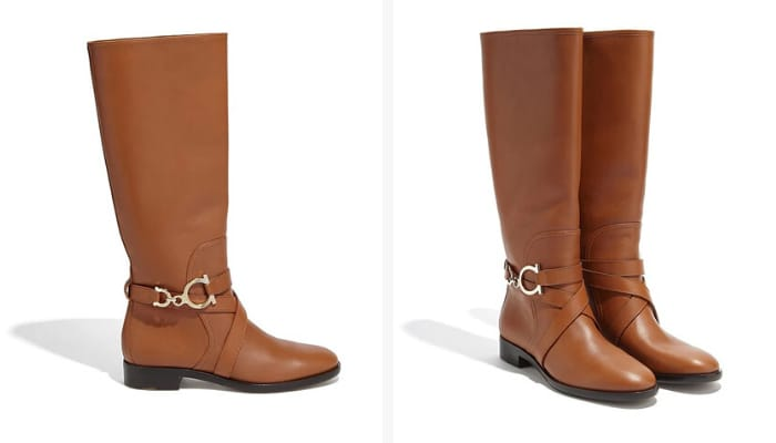 Salvatore Ferragamo Boots for Women - Gancini Boot