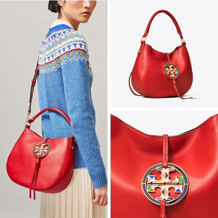 Tory Burch Handbags - Miller Enamel-Logo Mini Hobo