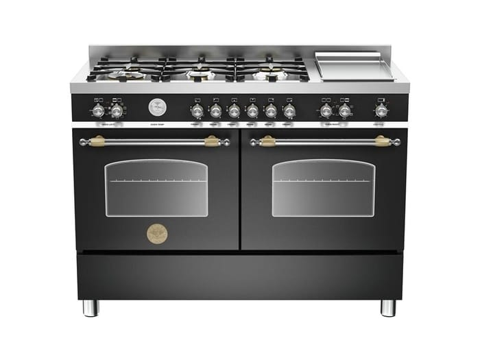 Bertazzoni Heritage Series 120 cm 6-burners + griddle, Electric Double Oven
