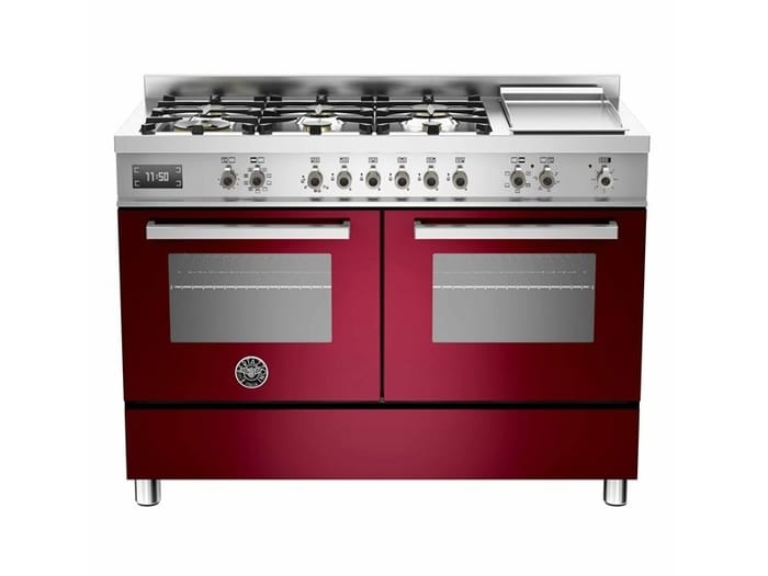 Bertazzoni Professional Series 120 cm 6-burner + griddle, Electric Double Oven