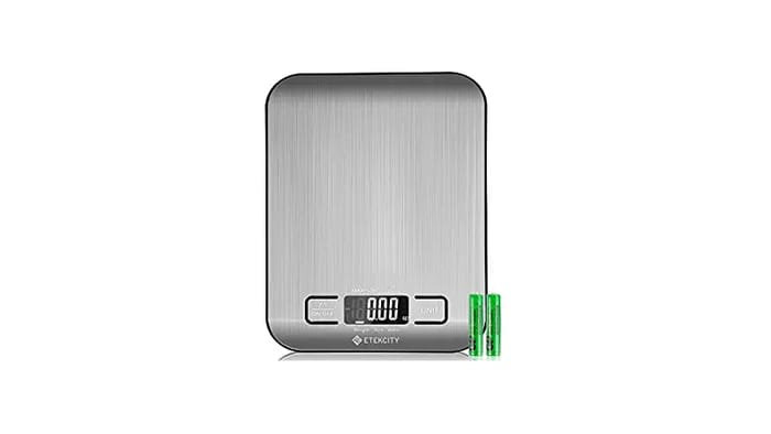 Best Kitchen Scales - Etekcity Upgraded Digital Kitchen Food Scale Multifunction Small Scale, 11 lb 5 kg, Stainless