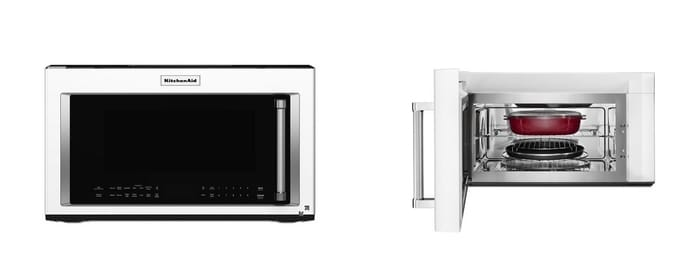 Best Microwave Ovens - KitchenAid 1000-Watt Convection Microwave Hood Combination - KMHC319EWH