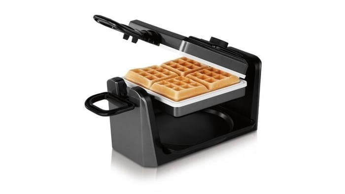 Best Waffle Makers - Oster DuraCeramic Infusion Series Belgian Flip Waffle Maker, Charcoal
