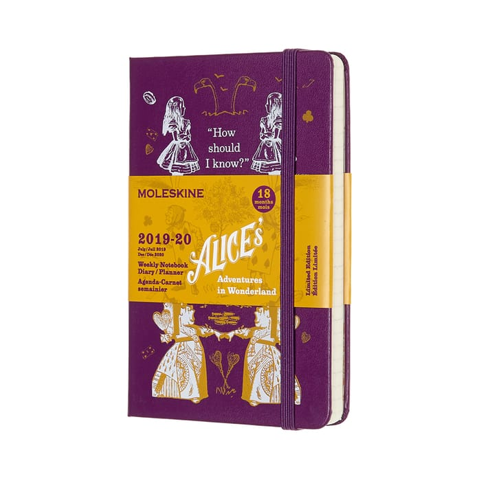Moleskine ALICE'S ADVENTURES IN WONDERLAND LIMITED EDITION 18-MONTH POCKET WEEKLY NOTEBOOK PLANNER