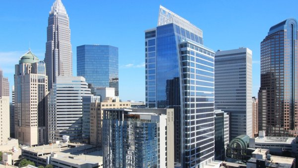Barings global HQ offers prime location, Class A office space, and boutique Kimpton Hotel in Charlotte