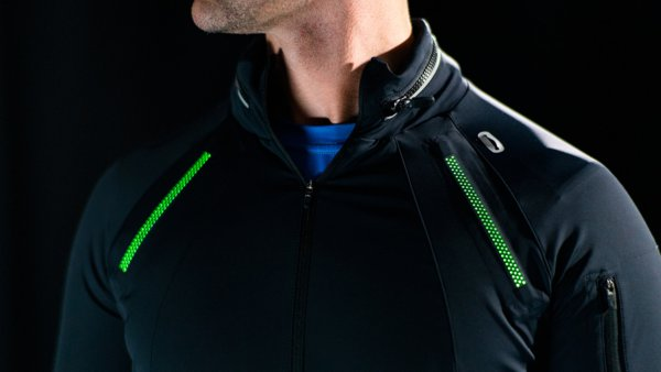 the First Essential Running Jacket with On-Demand Illumination