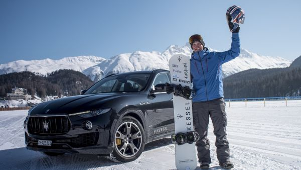 Jamie Barrow and Maserati Levante World Speed Record in St. Moritz