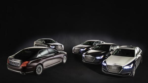 All five new 2019 Genesis G90 Vanity Fair Special Edition vehicles ready to arrive in character for Academy Awards week events.
