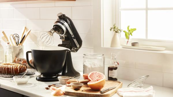 KitchenAid brings innovation and creativity to its iconic stand mixer with new attachments and accessories at the 2018 International Home and Housewares Show in Chicago. Pictured is a new KitchenAid 5 Quart Ceramic Bowl, available in patterned and textured options.