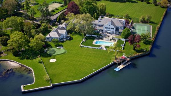 Waterfront estate in Greenwich formerly owned by President Donald Trump.