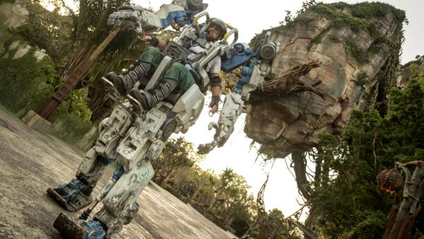 Pandora Utility Suit Debuts at Disney's Animal Kingdom- A towering mechanical suit is sure to stop Walt Disney World Resort guests in their tracks when it debuts April 22 at Pandora - The World of Avatar at Disney's Animal Kingdom in Lake Buena Vista Fla.