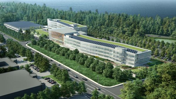 Rendering of the new 350,000 square-foot LG North American Headquarters which will feature Autani's Zigbee-based wirelessly networked lighting controls