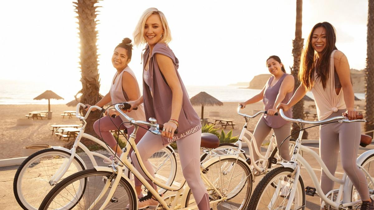 Fabletics Girl Almighty campaign featuring Kate Hudson with members of Girl Up's CSU Northridge campus chapter