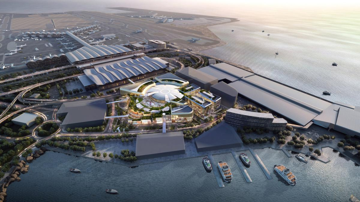 New World Development Company has been awarded the tender for the development and management of a world-class commercial development in SKYCITY at Hong Kong International Airport. (Rendering provided by New World Development)