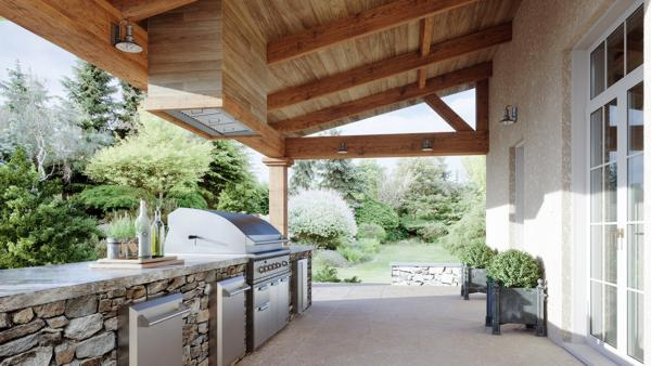 Spruce can be installed in wall or island applications, includes 304-grade corrosion-resistant stainless steel, and powerful blowers to handle the most intense outdoor grilling.