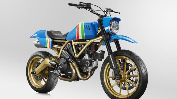 Ducati will Auction One-of-a-Kind Maverick Custom Scrambler at MECUM Las Vegas on June 2 CREDIT: RC Rivera