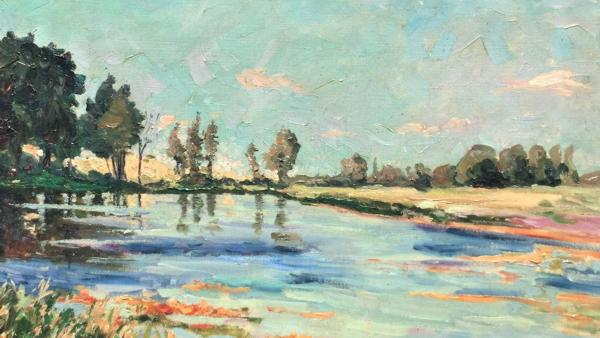 Sir Winston Churchill's painting 'Lake Scene at Norfolk' (Credit: Churchill Heritage Ltd.)