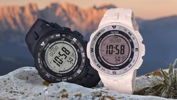 Casio PRO TREK PRG330 Transforms for Warmer Weather with Smaller Case Size, New Black and Pink Colors, and More!