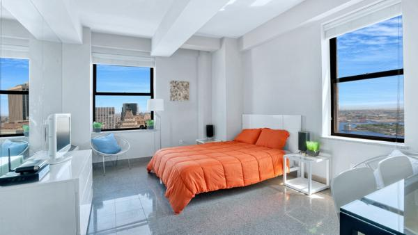 Small but beautiful: NYR.com's penthouse is offered at just $748,000.