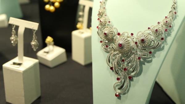 Jewellery exhibited at Shanghai Jewellery Fair 2017