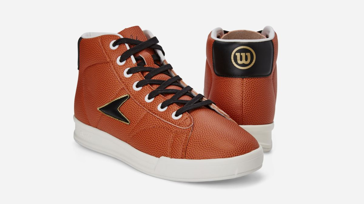 Limited-Edition John Wooden Sneaker Crafted From Orange Grained Composite Leather