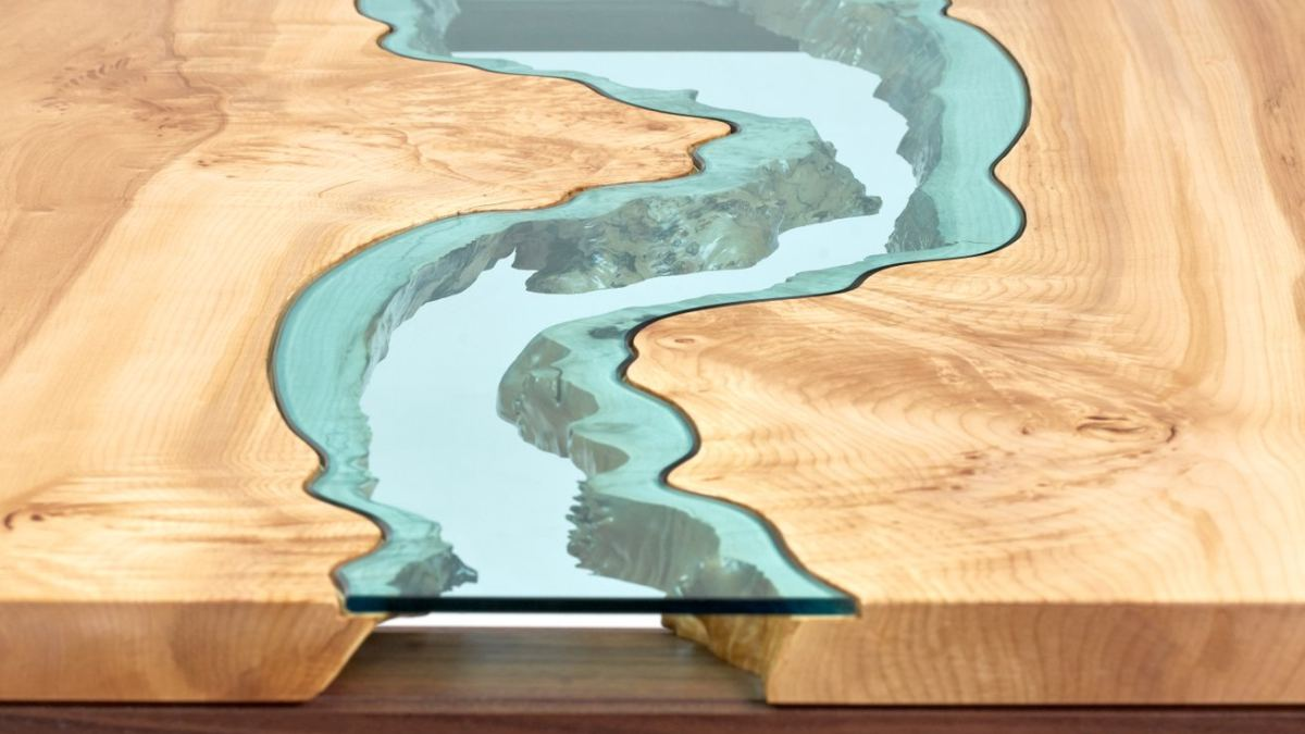 Greg Klassen's River Coffee Table in Maple. Photo credit: Matthew Bergsma.
