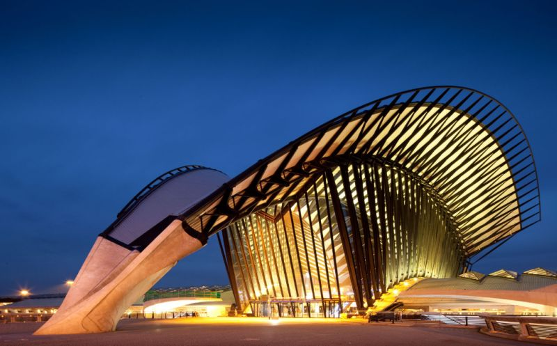 Lyon Franec St. Exupery by Santiago Calatrava - photo by Terry Wier