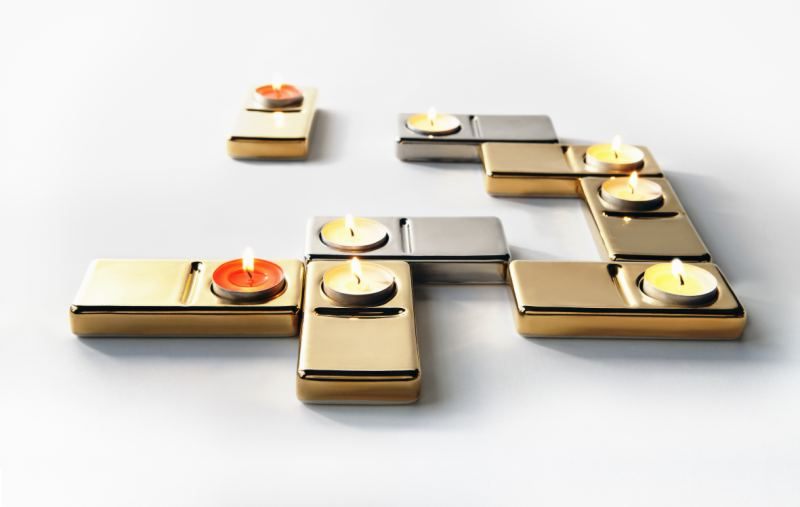 KAYIWA DOM�I�NO GILDED Candle Holder