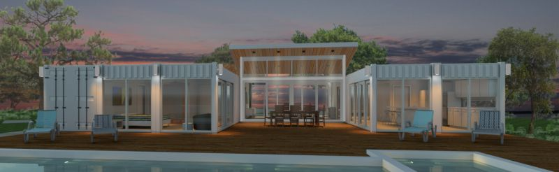 Container Home Rendering by Moses Magro MXM Inc. - CSpace Architecture + Design