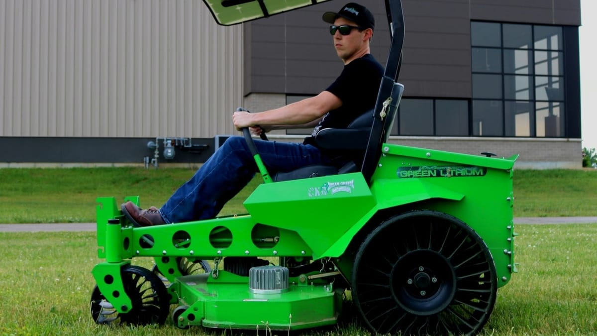 Michelin's revolutionary X Tweel line is now available on select all-electric, zero-turn-radius Mean Green commercial mowers.