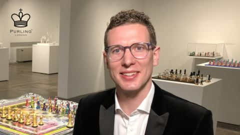 Simon Purkis, Founder and Director of Purling London - Photo credit World Chess Hall of Fame