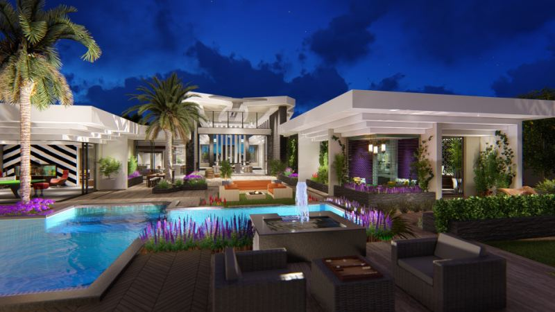 Modern Villa Design Pool-Garden-Patio Arizona SLD Architects