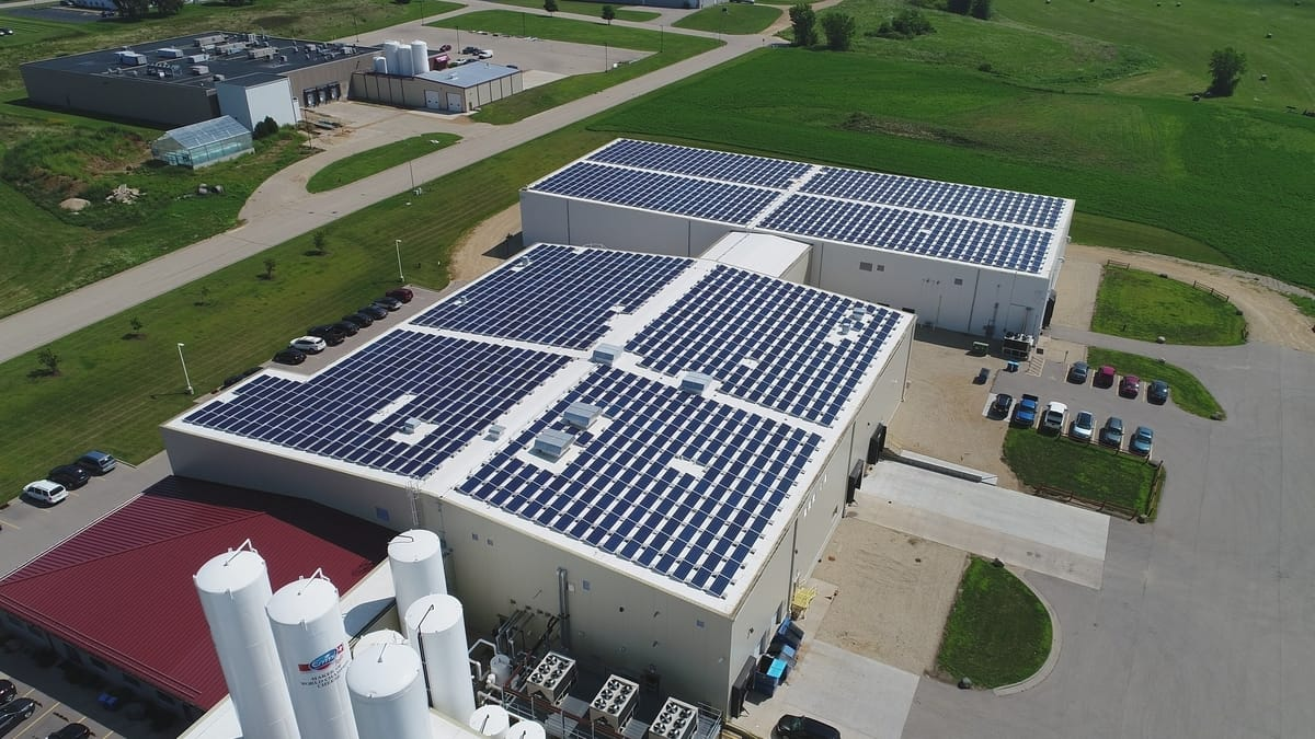 Initiated by an ongoing sustainability goal, Emmi Roth implemented 1,602 JA 330 watt panels on the roof of their cheese production facility in Platteville, Wisconsin.
