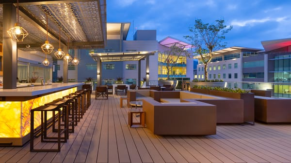 Exterior view of the terrace at the Marriott AC Escazú. Costa Rica.