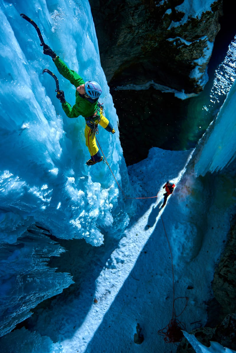 'Ice climbing is one of my favorite subjects. It�s like being in a separate reality.' ©Paolo Sartori