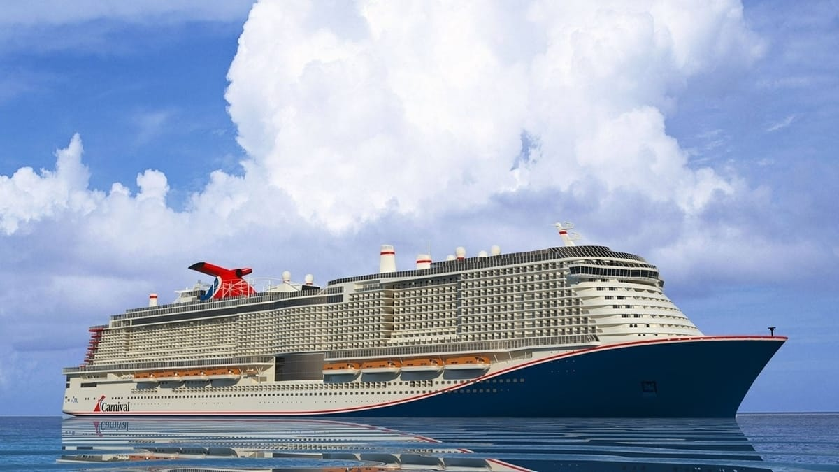 A steel cutting ceremony was held in Finland today for Carnival Cruise Line's new 180,000-ton ship, the line's largest vessel to date and the first to be powered by Liquefied Natural Gas, part of the company's green cruising platform.