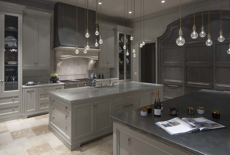 Limestone Chateau Kitchen - designed by William T. Baker