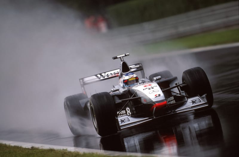 Italian Grand Prix, 13 September 1998. Mika Hakkinen in a McLaren-Mercedes MP4/13.