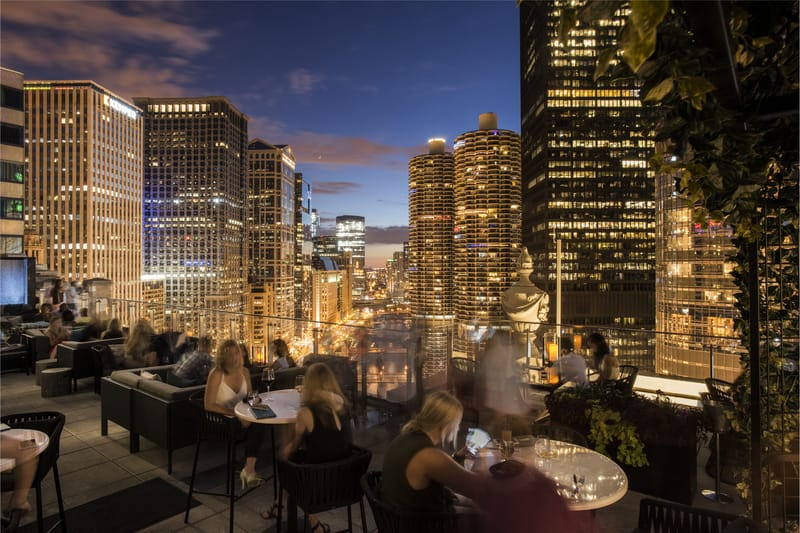 LondonHouse Chicago 22nd floor Outdoor Terrace - Photo by Nicholas James Photography