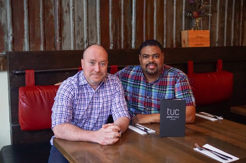Colin Ross and Roy Flemming, Owners of Tuc Craft Kitchen