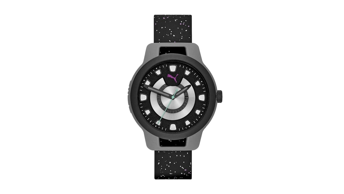 PUMA The RESET Collection - Black Slicone Watch