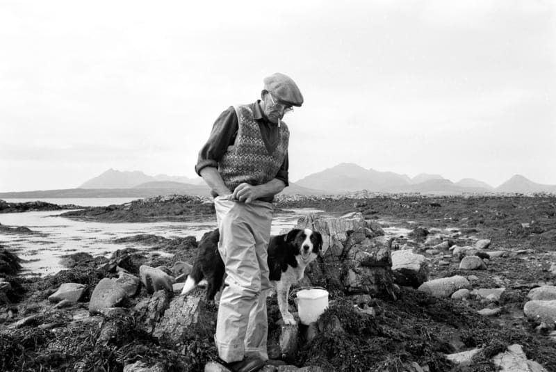 The Man on Skye with his dog - Photo by Chris Close
