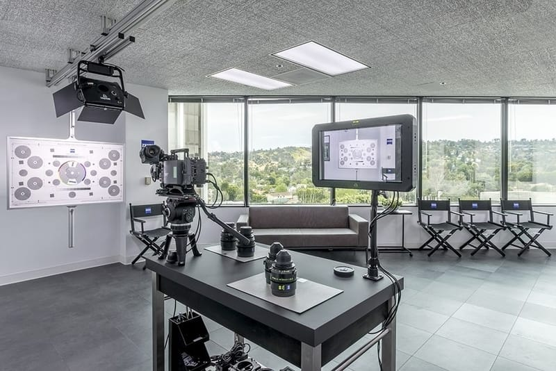ZEISS Cinema Lens Demo Center in Sherman Oaks, Los Angeles. Camera Prep Area