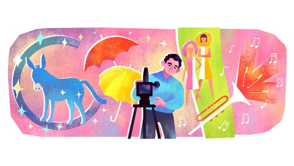 Google Celebrates Jacques Demy's 88th Birthday - Image Credit: Google Doodle