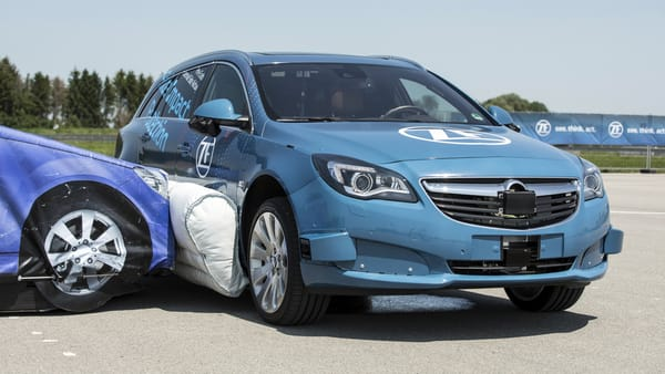 ZF Introduces the World's First Pre-crash External Side Airbag System