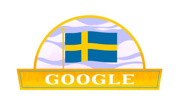 Google Celebrates Sweden National Day (Sveriges Nationaldag) - Image Credit: Google Doodle